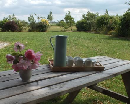 Vakantiewoning 't Moerland Veurne - tuin zijgevel