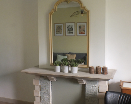 vakantiewoning La Compagnie des Moëres Moerhuisje - living spiegel