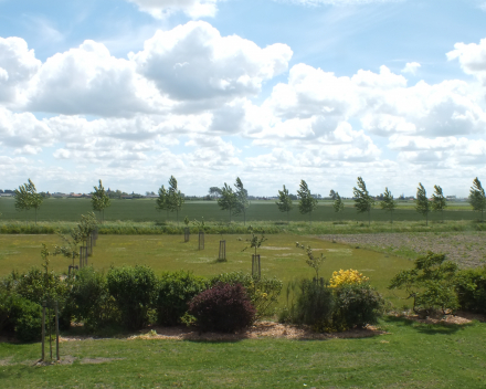 vakantiewoning La Compagnie des Moëres Moerhuisje - tuin vakantiewoning en boomgaard